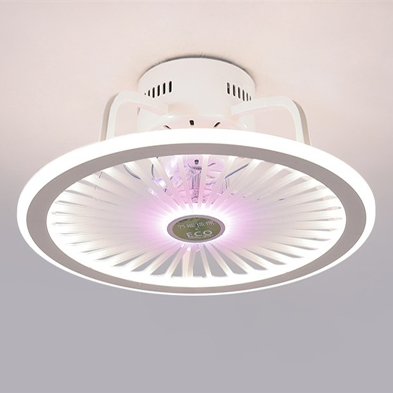 Modern Style Smart Ceiling Fan Light Creative Study Bedroom Dinner 3 Colors Led Fan Light With Remote Control High Quality Materials