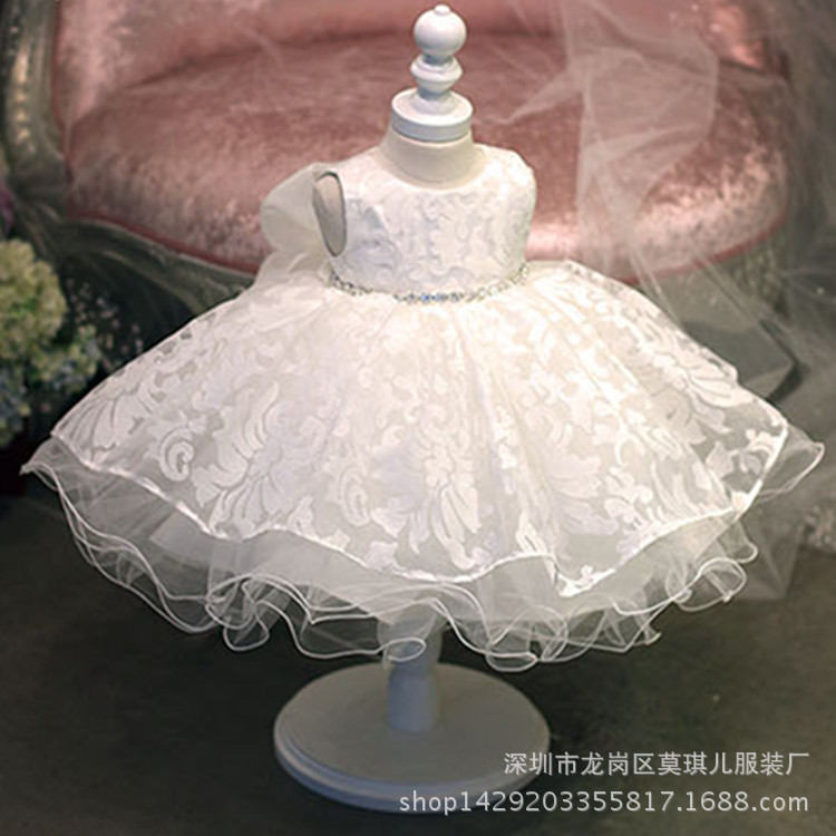 2019 Childrenswear Hundred Days A Year Of Age Formal Dress Girls Palace Children Princess Tutu Dresses Of Bride Fellow Kids Wedd