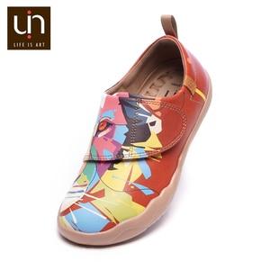 Image 4 - UIN/Цветная дизайнерская детская обувь с рисунком льва; модные кроссовки из микрофибры для мальчиков и девочек; Брендовая обувь; детская мягкая обувь на плоской подошве