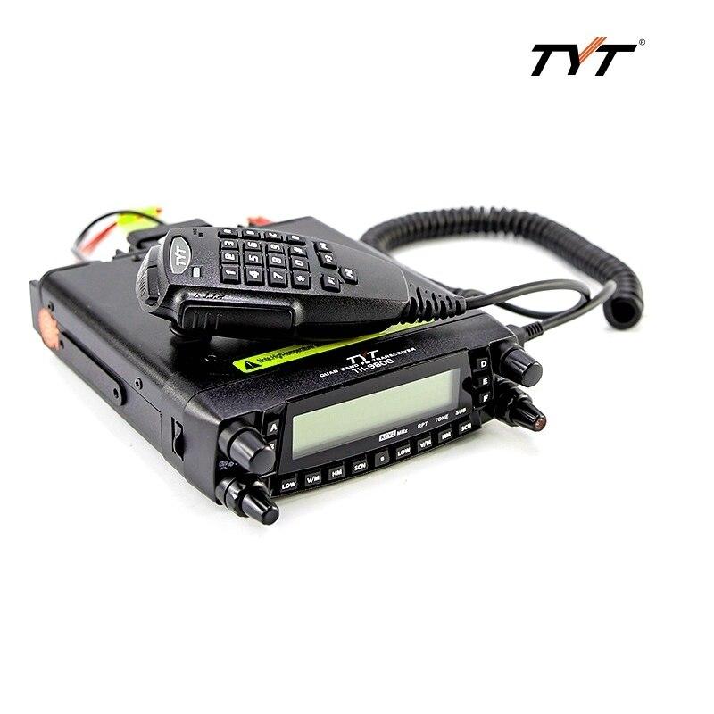 Tyt TH-9800 quad band móvel transeiver am fm 29/50/144/430 mhz rádio do carro 50 w max rádio móvel comunicação sem fio intercom