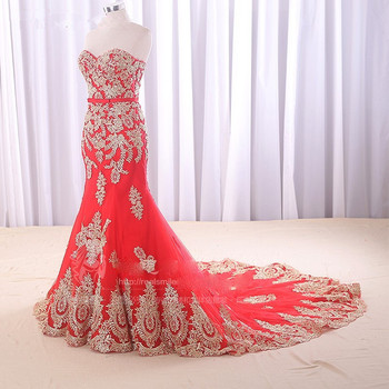 Sleveless Evening Dresses Elegant Mermaid Formal Dress Prom Gown gold Lace appliques Robe De Soriee Long Evening Party Dress fashion ivory mermaid long evening dresses women 2019 evening gown scoop stretch fabric lace zipper sleeveles formal party dress