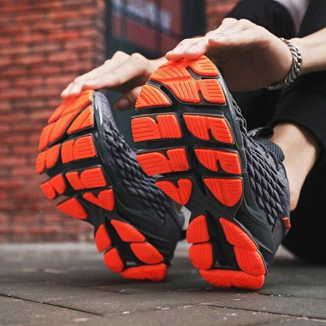 Men Blade Shoes Soft Running Shoes Men's Breathable Walking Jogging Shoes Outdoor Fashion Shoes Men Casual Cool Black 5