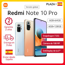 En Stock mundial versión Xiaomi Redmi Note 10 pro Smartphone 108MP Cámara 6,67