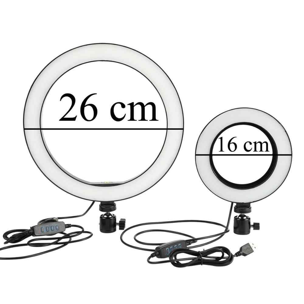 LED Dimmable Kit Anello di Luce 3200-5600K Macchina Fotografica Fotografia In Studio di Illuminazione Anulare per Youtube Trucco con il Treppiedi Del Supporto Del Telefono clip di 2019