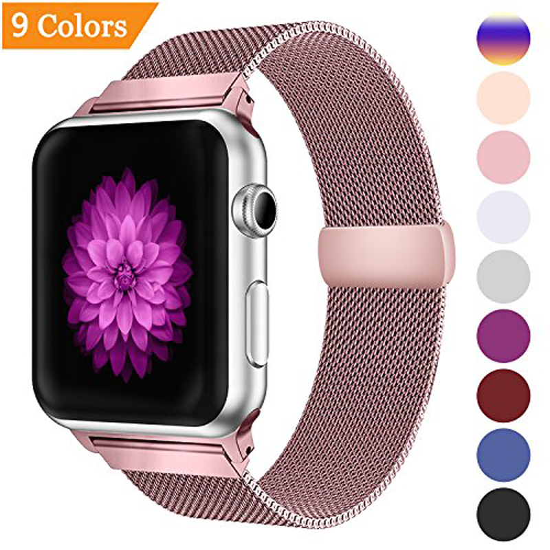 Loop-Strap Watch-Band Pulseira-Bracelet 42mm Apple Milanese 38mm For 44mm/40mm Correa