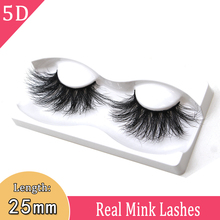 25mm lashes 3d mink eyelashes Cruelty-Free 3D Soft real 25 mm hair false extension 5d strips