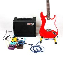 6Pcs/Set Guitar Parts Colorful Angled Plug Audio Cable Leads Patch Cables