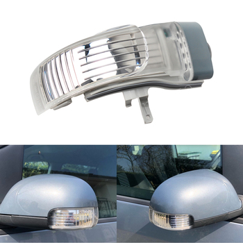 LED Rearview Mirror Turn Signal Indicator Lights for Volkswagen for VW Touran 2004-2010 Door Wing Outer Turn Signal Light Lamp car rearview mirror turn signal lights led lamp for toyota wish prius mark x crown auto exterior warning lights turning signal