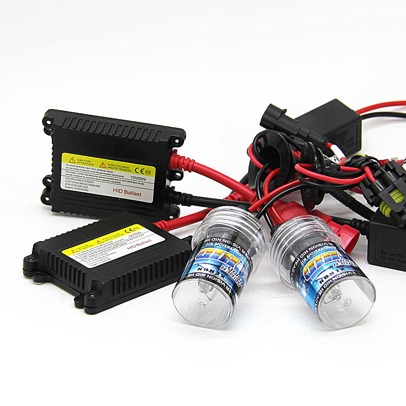 55W 12V Xenon Light Bulb Car Headlight 880 881 H1 H3 H7 H11 9005 9006 4300k 6000k 8000k HID Slim Ballast Xenon Kit