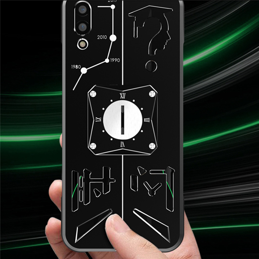 For Xiaomi Black Shark 2/3 Pro Metal Cellphone Protective Shell Phone Back Cover Mobile Phone Magnetic Case Dissipate Heat
