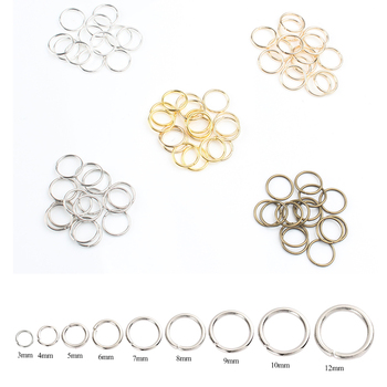 200pcs/lot 3mm-12mm Metal Jump Rings Jewelry Findings Open Loop Split Rings Supplies for Jewelry Making Handmade DIY Accessories 1000pcs 3 12mm metal jewelry findings open single loops jump rings