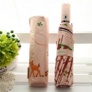 Image 1 - Lotosblume מותג מכירה לוהטת חדש באופן מלא אוטומטית אנטי Uv לנשים מתנת אופנה Windproof שמש גשם גבירותיי מטריות