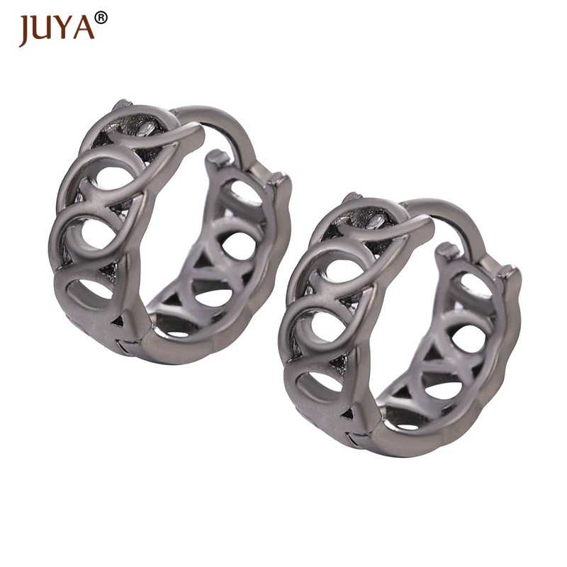 Gold Silver Rose Gold Black Color High Quality Copper Metal Round Hollow Hoop Earrings Clasp Earring For Women Jewelry