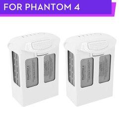 100% Phantom 4 Pro Battery 5350mAh Flight 23 mins Intelligent 2PCS for DJI Phantom 4 Series Battery Wholesale