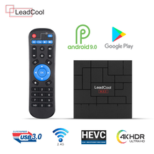 Android 9,0 Leadcool Max Dispositivo de TV inteligente RK3318 4K 4G 64G USB 3,0 reproductor multimedia Dual-banda wifi Android Leadcool Max set Top box(China)