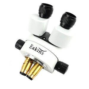 Image 4 - 3.5X 90X Continuous Zoom Binocular Stereo Microscope Focus Arm 76MM Head Holder LED Ring Illuminator Lamp For IPhone Repair