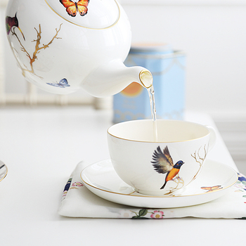 Британский послеобеденный чайный сервиз, костяной фарфор, кофейная чашка, блюдце, Европейский керамический кофейный сервиз, черный чай, чай