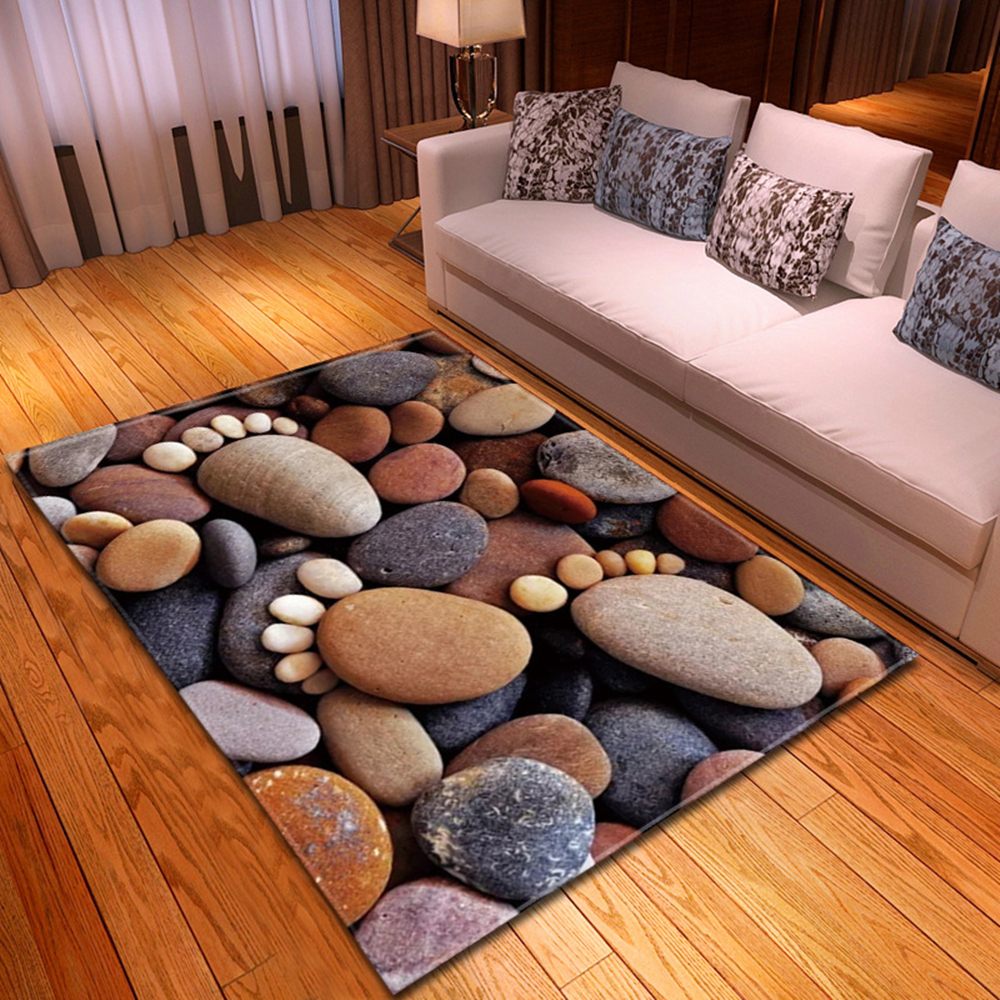 Nordic Carpets For Living Room 3D Flannel Printing Pattern Bedroom  Carpet  Kids Room Rug Non-slip Decorative Bedside Mat