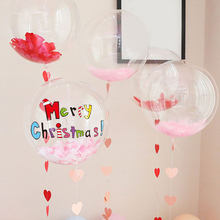 "1pc Gold Black Red custom balloon sticker wedding birthday party decor DIY name Christmas Valentine's day suit for 18"" 24"" balls(China)"