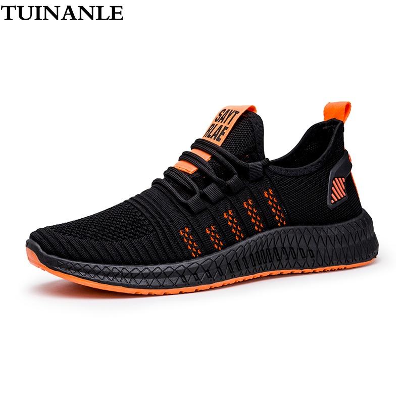 TUINANLE Flats Women Sneakers Breathable Mesh Ladies Shoes 2020 Plus Size Black Lover Vulcanize Shoes Walking Sneakers Men Flats