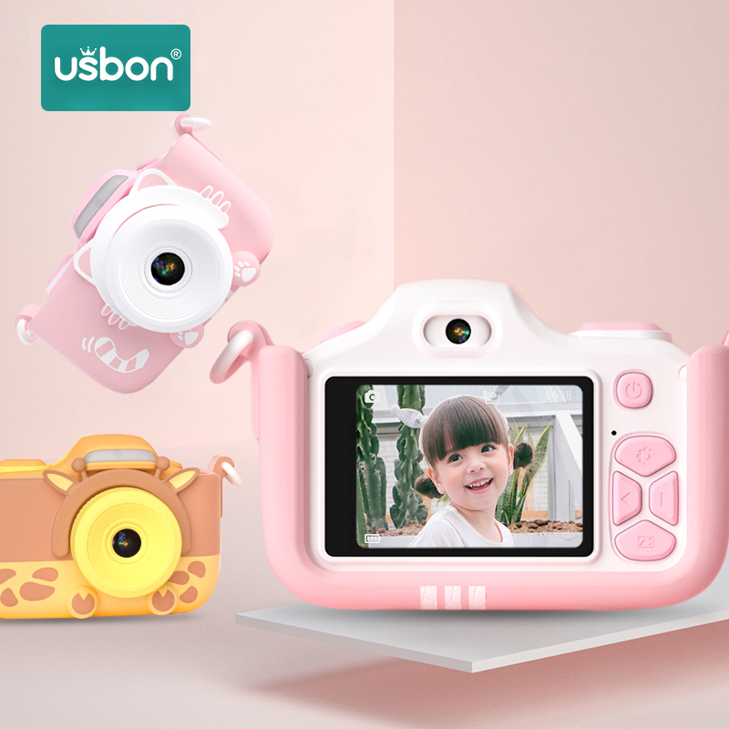 Usbon Child Kids Camera Digital Toy Birthday Gift Multilingual Magic 24 Million Pixel 2-inch LCD HD Mini Photo Photography Video