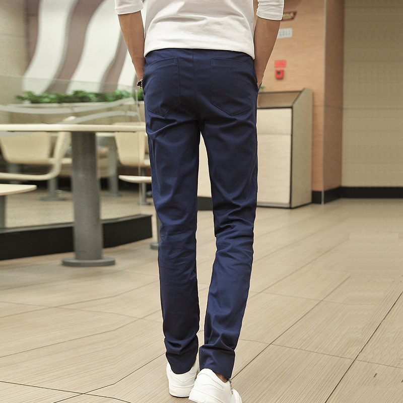Pants MEN'S Trousers Popular Brand Trend Autumn & Winter Korean-style Casual Pants Youth Popularity Large Size Straight-Cut Stud
