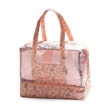 Dry Wet Separation Swimming Beach Bag With Zip Women Beach Tote Bags Waterproof Travel Bag Holiday zip closure canvas tote bag