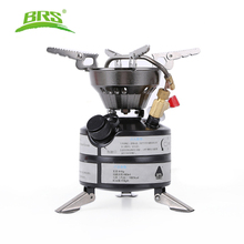 лучшая цена BRS Newest Mini Liquid Fuel Camping Gasoline Stoves Portable Outdoor One-piece Stove Burners Cooker Gas Stove for Outdoor Sports