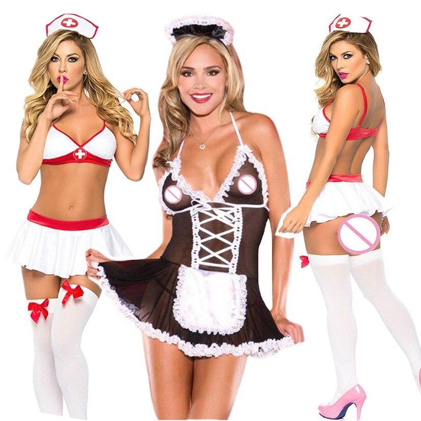 Эротическое платье, униформа для медсестры, женское нижнее белье для ролевых игр, Детская кукла, Lenceria Sexi Porno, костюмы, нижнее белье, косплей, с...
