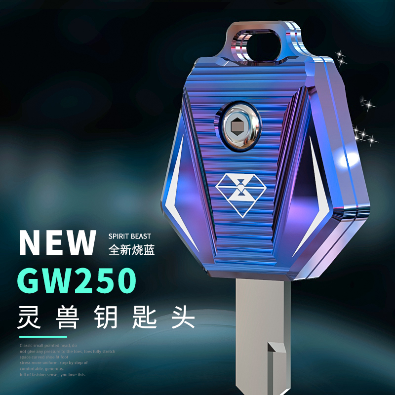 GW250 Key Set Modified Accessories Motorcycle Decoration Creative Key Personality Spirit Beast Motorbike Modeling Free Shipping