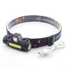 Miner'S Lamp Black Outdoors ABS Night Fishing Fishing Lights Headlamp Lighting LED Motion 200m Riding Flashlight Light Head Lamp