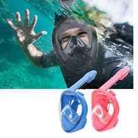 Full Face Snorkel Mask Foldable 180 Degree Panoramic View Diving Mask Underwater Anti-Fog Anti-Leak Design For Kids