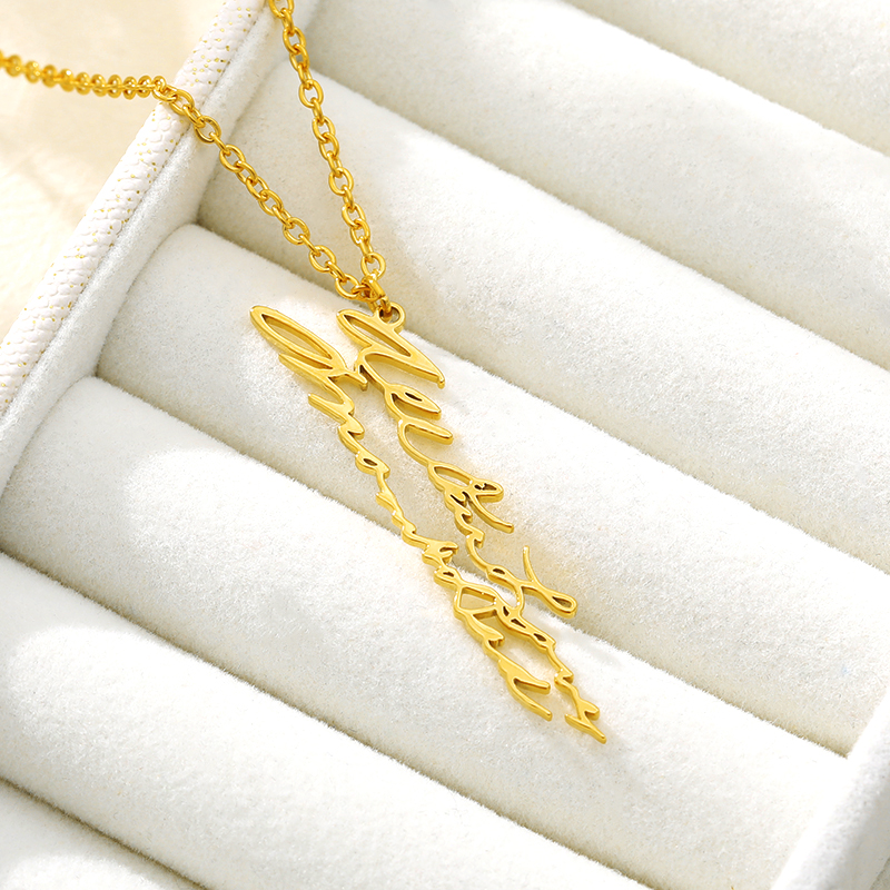 Customized Handwriting Necklace Memorial Signature Jewelry Gold Stainless Steel Personalized Keepsake Gift For Best Friend