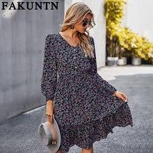Женское платье fakuntn женская одежда мода 2021 осень весна
