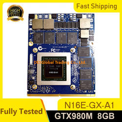 GTX 980M 8G GTX980M Graphics Card For Dell M17X R4 R5 M18X R2 R3 with X-Bracket N16E-GX-A1 8GB GDDR5 MXM 100% Working Fully Test