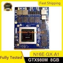GTX 980M 8G GTX980M Grafikkarte Für Dell M17X R4 R5 M18X R2 R3 mit X-Halterung n16E-GX-A1 8GB GDDR5 MXM 100% Arbeits Voll Test