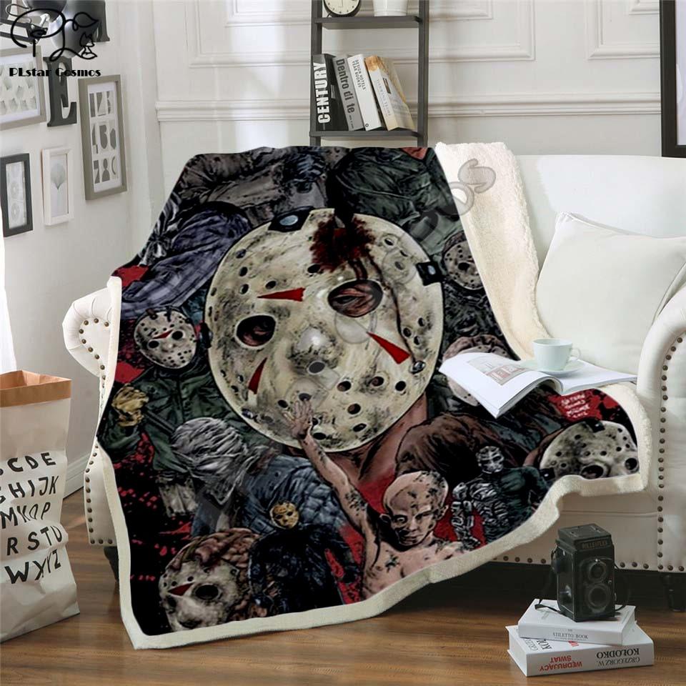 Plstar Cosmos Halloween horror movie Scream Team Zombie brid Blanket 3D print Sherpa Blanket on Bed Home Textiles style-7