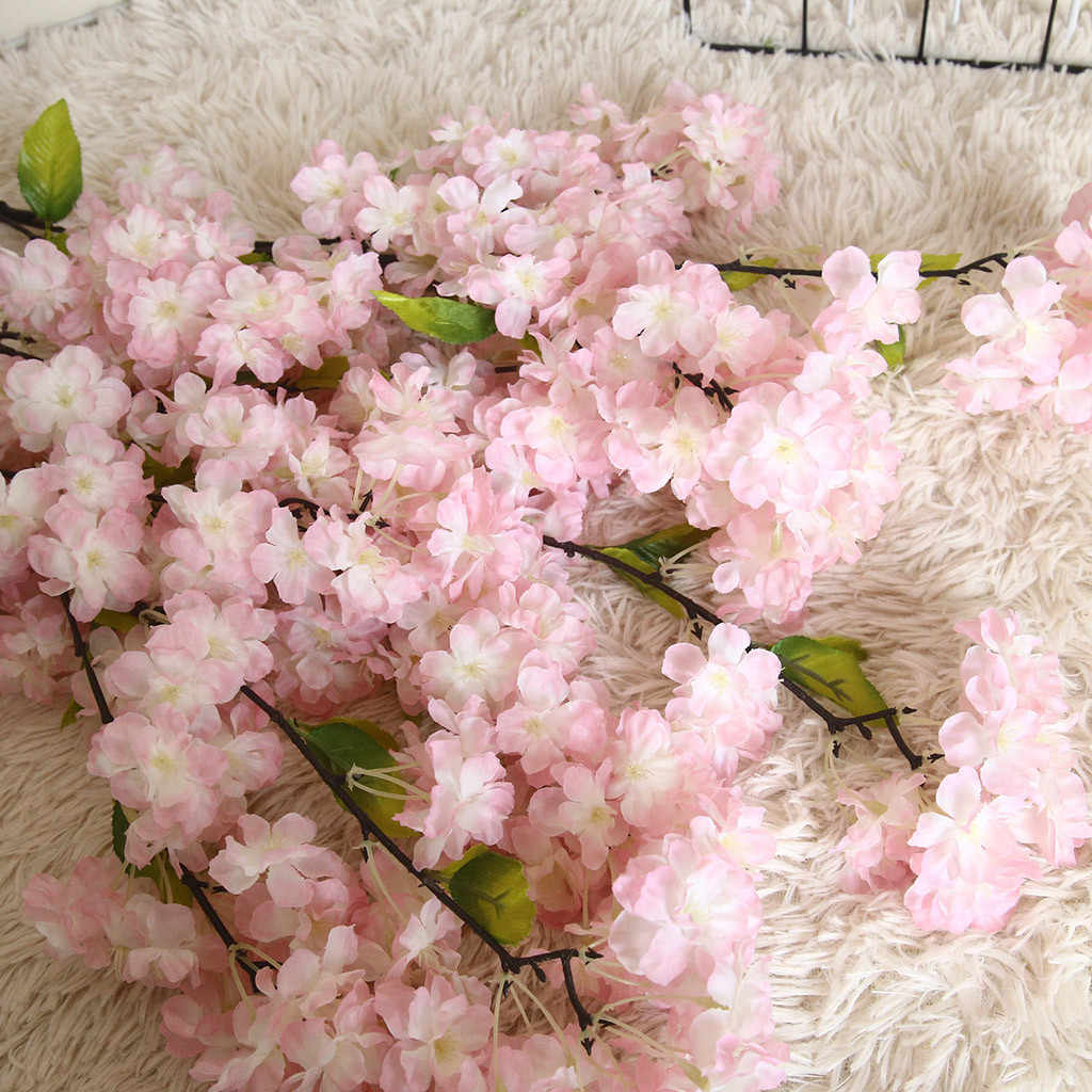 زهرة اصطناعية نبات بونساي الزفاف الديكور INS الرياح النبات جدار أزهار الكرز الربيع اليابانية ساكورا الديكور #40