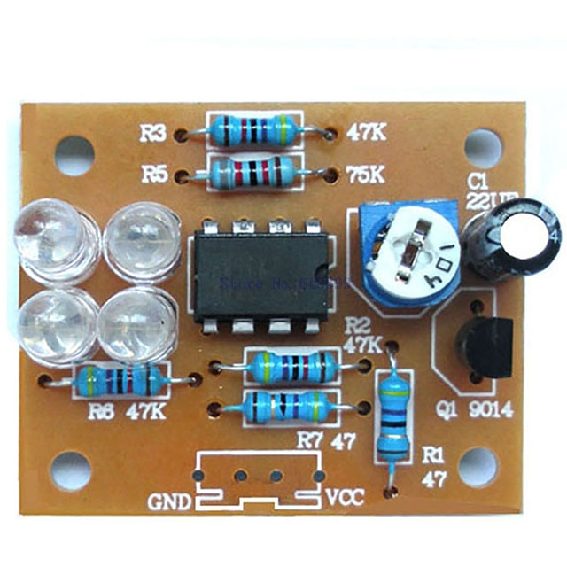 A7-- Electronic DIY Kits LM358 Breathing Light Suite Blue Flashing LED Light Interesting Product Components Parts DC 9V