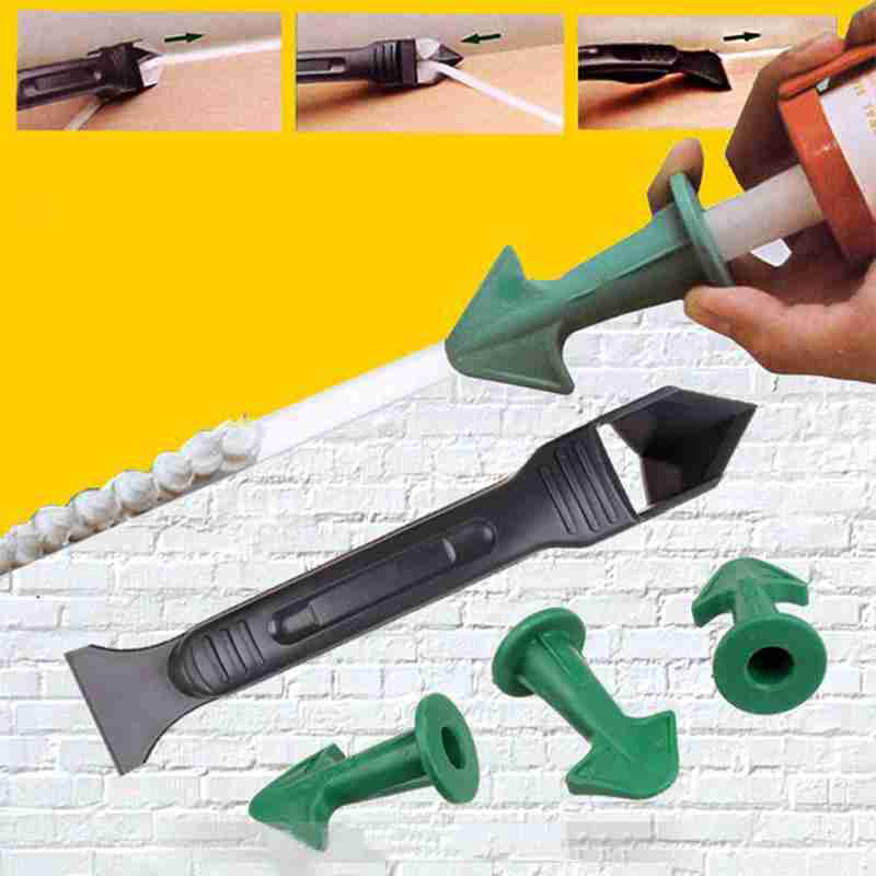 1set Finisher Sealant Smooth Scraper Grout Kit Tools Plastic Hand Tools Silicone Remover Finisher Caulk Set Accessories