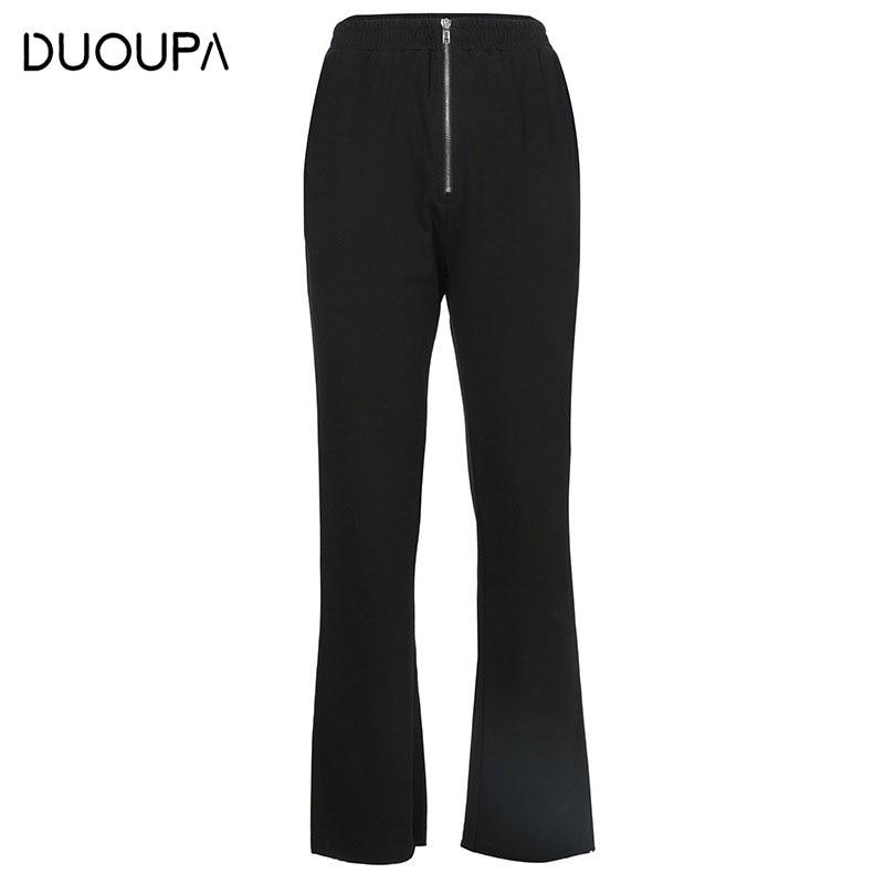 2019 New Women's High Waist   Pants   OL Ms. Professional Solid Color Court Slim Trumpet   Wide     Leg     Pants   Female Harem   Pants   Were Thin