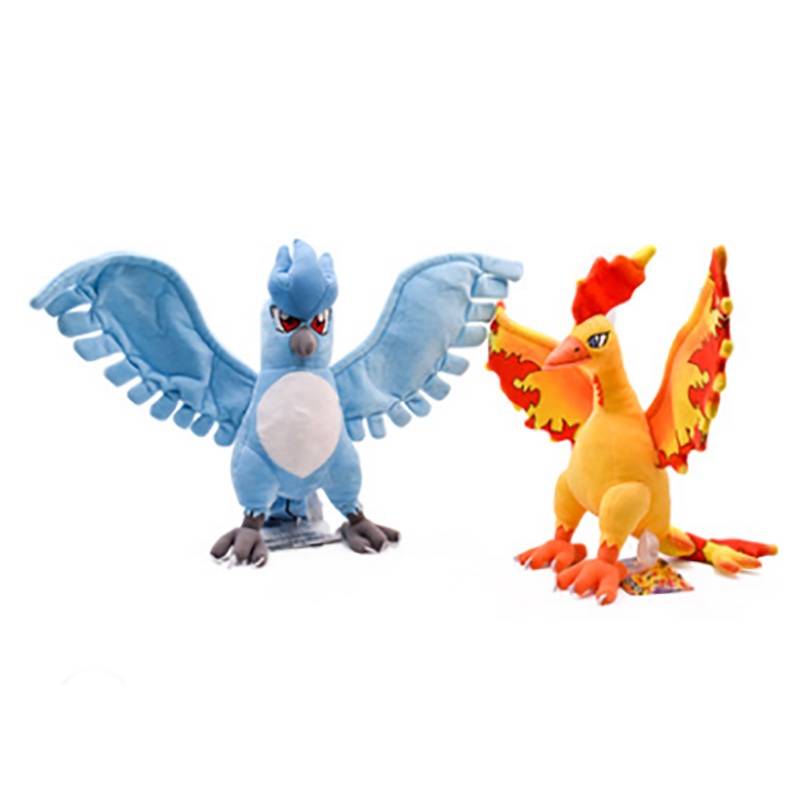 Articuno/Moltres Animal Dolls 28cm Cartoon Plush Toys High Quality Soft PP Cotton Kids Birthday Best Gift For Children