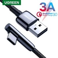Ugreen USB tipo C cavo 3A cavo di ricarica rapida USB C per Samsung S20 Huawei Xiaomi cellulare caricabatterie rapido cavo dati cavo USB