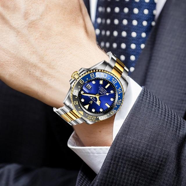 Купить lige новые часы мужские брендовые автоматические механические картинки цена