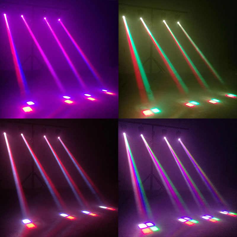 Мини RGBW светодиодный 10 Вт Светодиодный луч движущийся головной свет высокой мощности 10 Вт четырехъядерный стробоскоп светодиодный сильный Луч света для вечерние дискотечная лампа ди-Джея