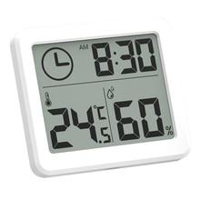 Ультратонкие цифровые настольные часы с температурным режимом и влажностью, автоматический мониторинг, большие многофункциональные электронные настольные часы с ЖК-экраном