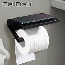 Полка для туалета черный Краски бурения Бумага держатель с мобильный