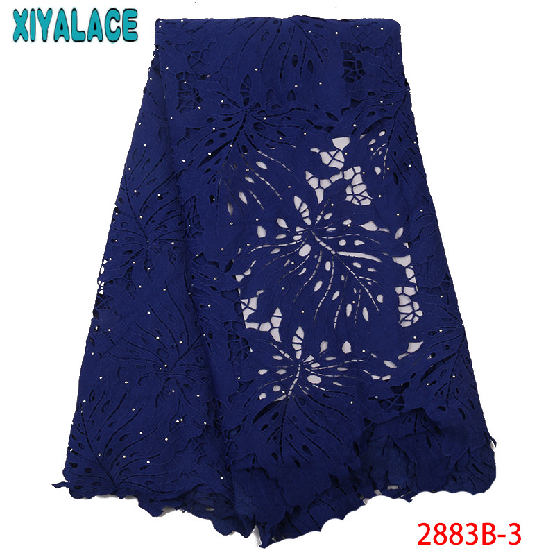 Nigerian Cord Lace Fabric 2019 High Quality Lace White Voile Lace Fabric Latest French Milk Silk Laces For Women KS2883B-3