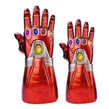 New Avengers Marvel Superhero Endgame Tony Stark Iron Man Cosplay Arm Infinity Sleeve Gauntlet Right Hand Thanos LED Toy Gloves avengers iron man helmet cosplay marvel superhero tony stark action figure touch sensing mask with led light motorcycle helmet