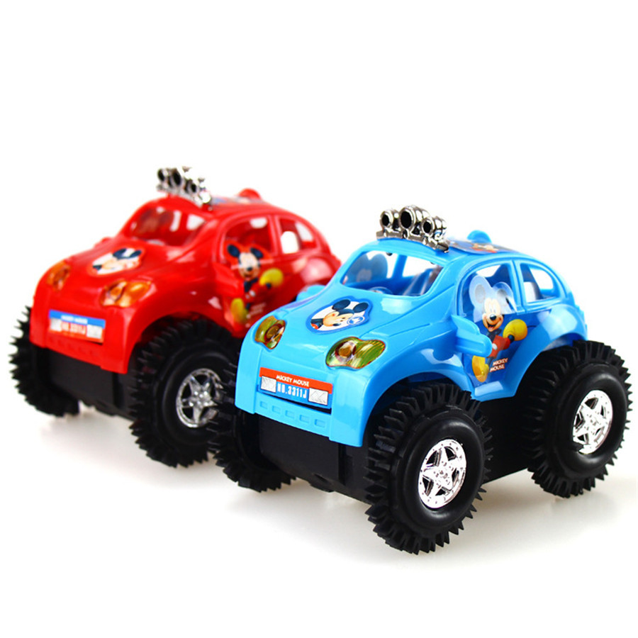 Stall Hot Selling Mickey Dump Truck Children Electric Tumbling Stunt Car Small Bee Toy Hot Selling Manufacturers Direct Selling